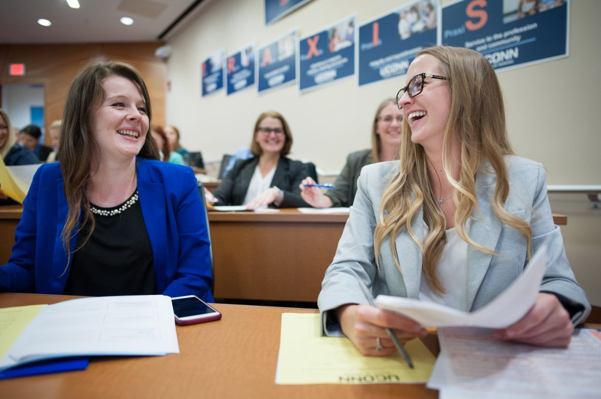School of Nursing students and alumni gather for the 2018 Postcards from Reality event.